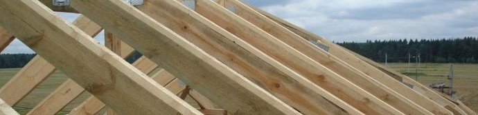 Как положить стропила двускатной крыши
