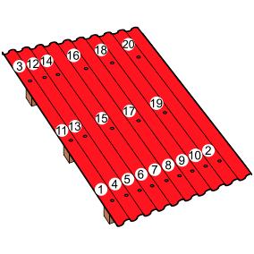 Как класть ондулин: схема