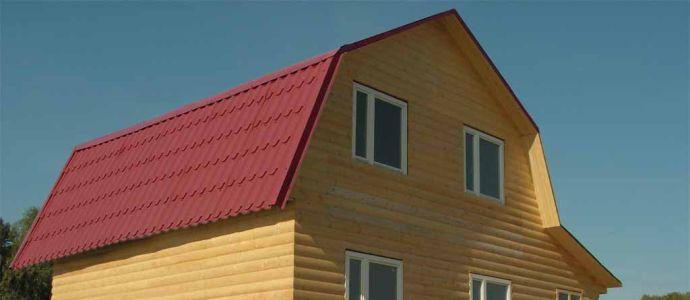 Двускатная крыша с изломом
