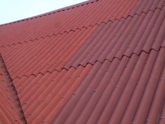 Пример крыши из андулина