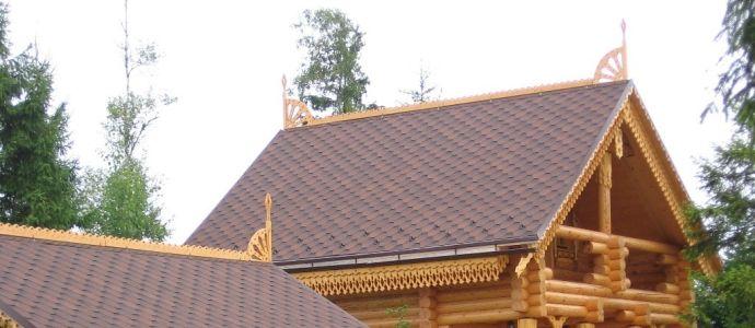 Двускатная крыша дома