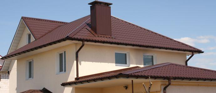 Крыша из металлочерепицы викинг