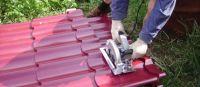 Как резать металлочерепицу