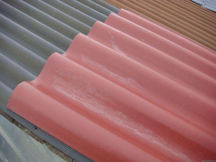 Цветной волновой шифер