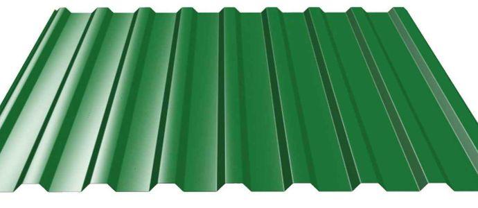 Профнастил зеленый