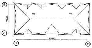 План кровли четырехскатной крыши