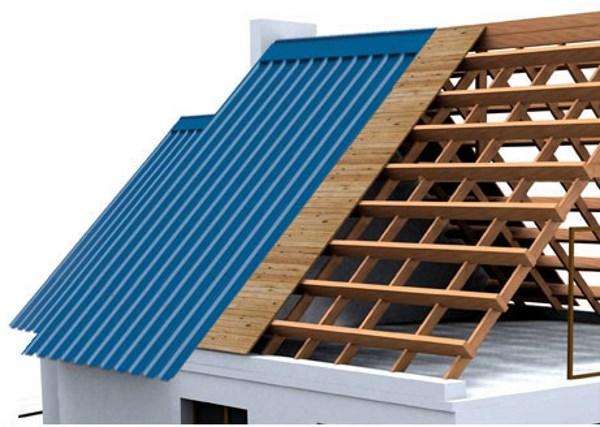 Как правильно сделать крышу под профнастил