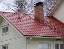 Крыша с металлочерепицей