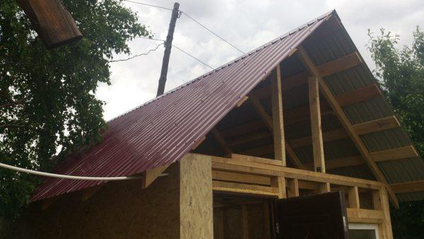 Крыша из профлиста своими руками