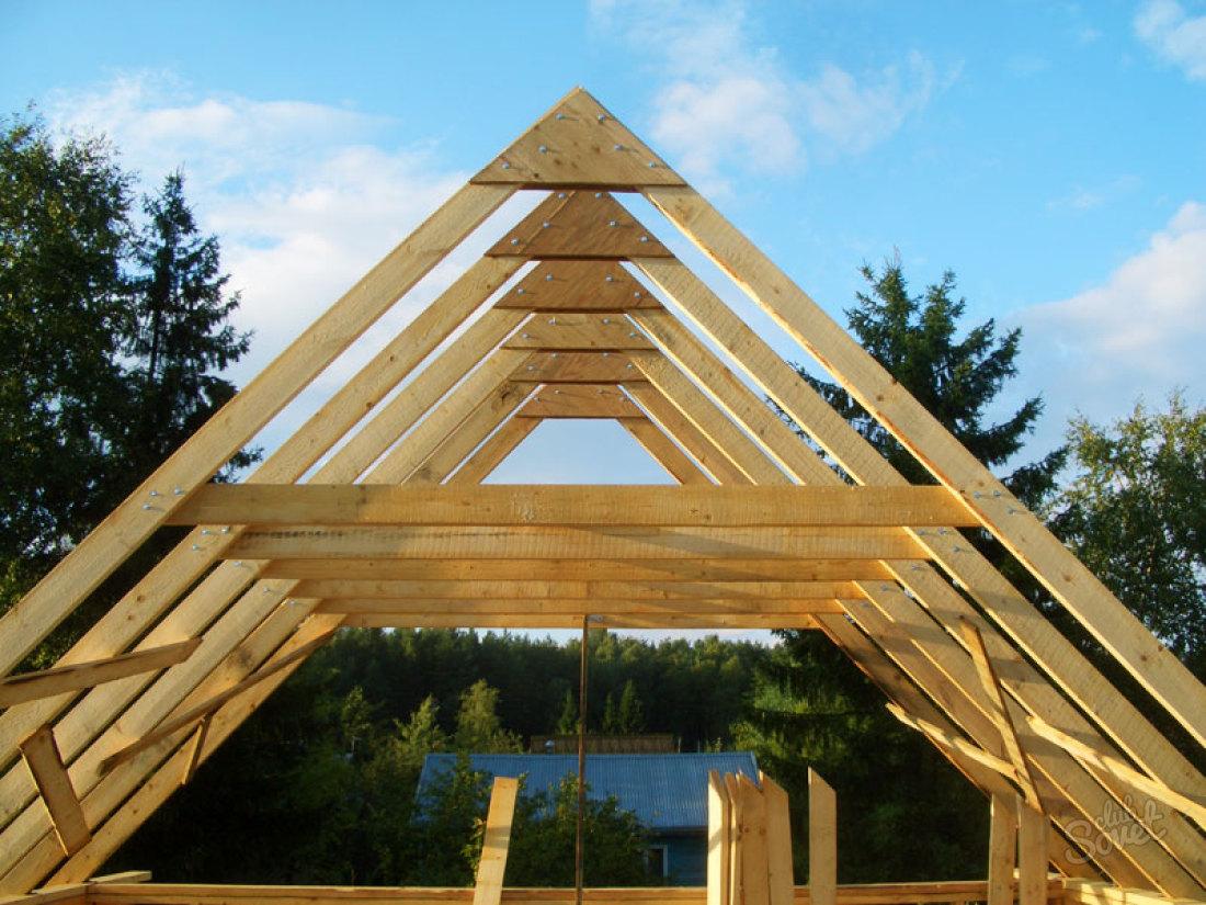 Строительство деревянной крыши своими руками 72