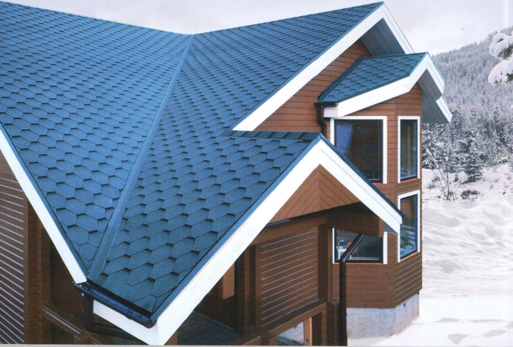 металлочерепица синяя фото домов сиреневого, лилового