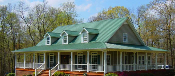 Устройство крыши дома из профнастила