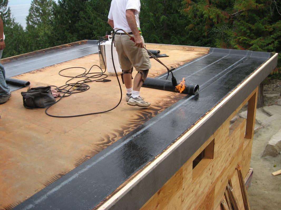 Утепление крыши стеклоизолом