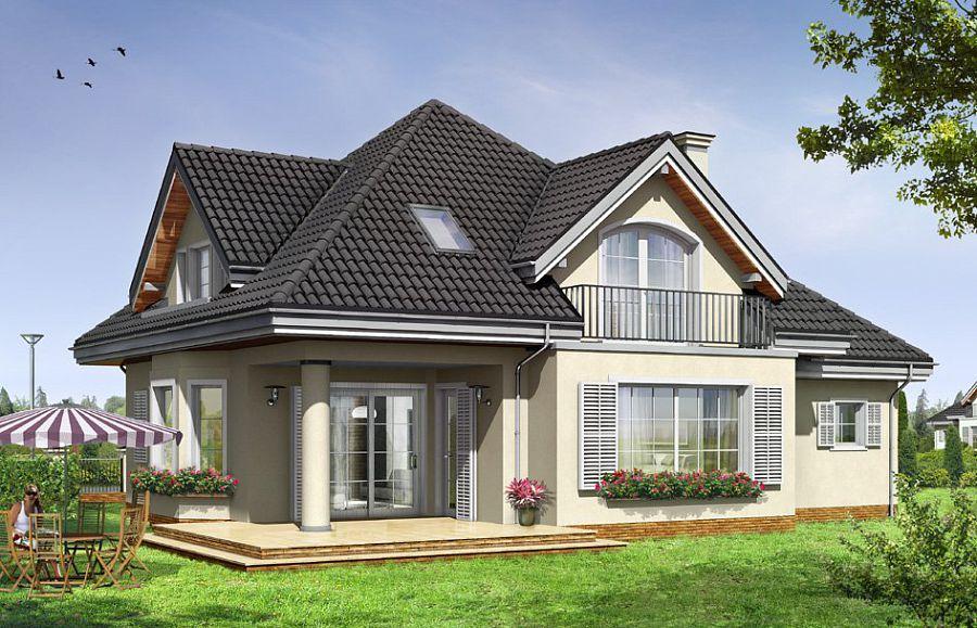 Проект дома с вальмовой крышей
