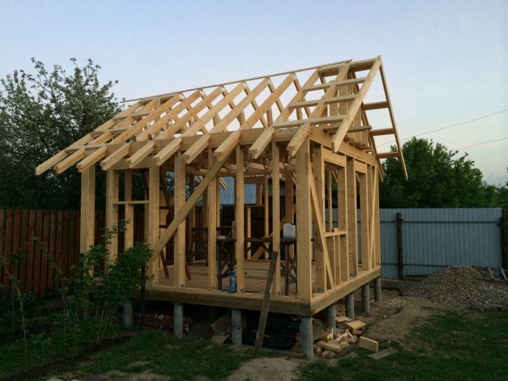 Крыша для каркасной бани