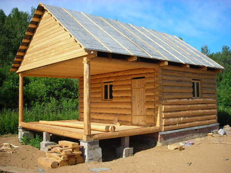Крыша на баню двускатная