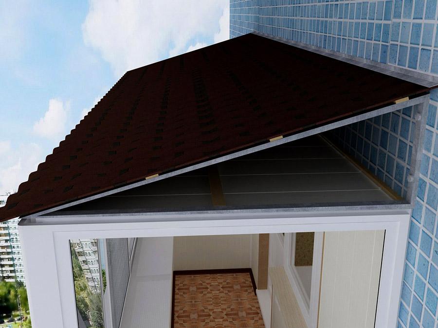 Как сделать крышу балкона последнего этажа своими руками 323