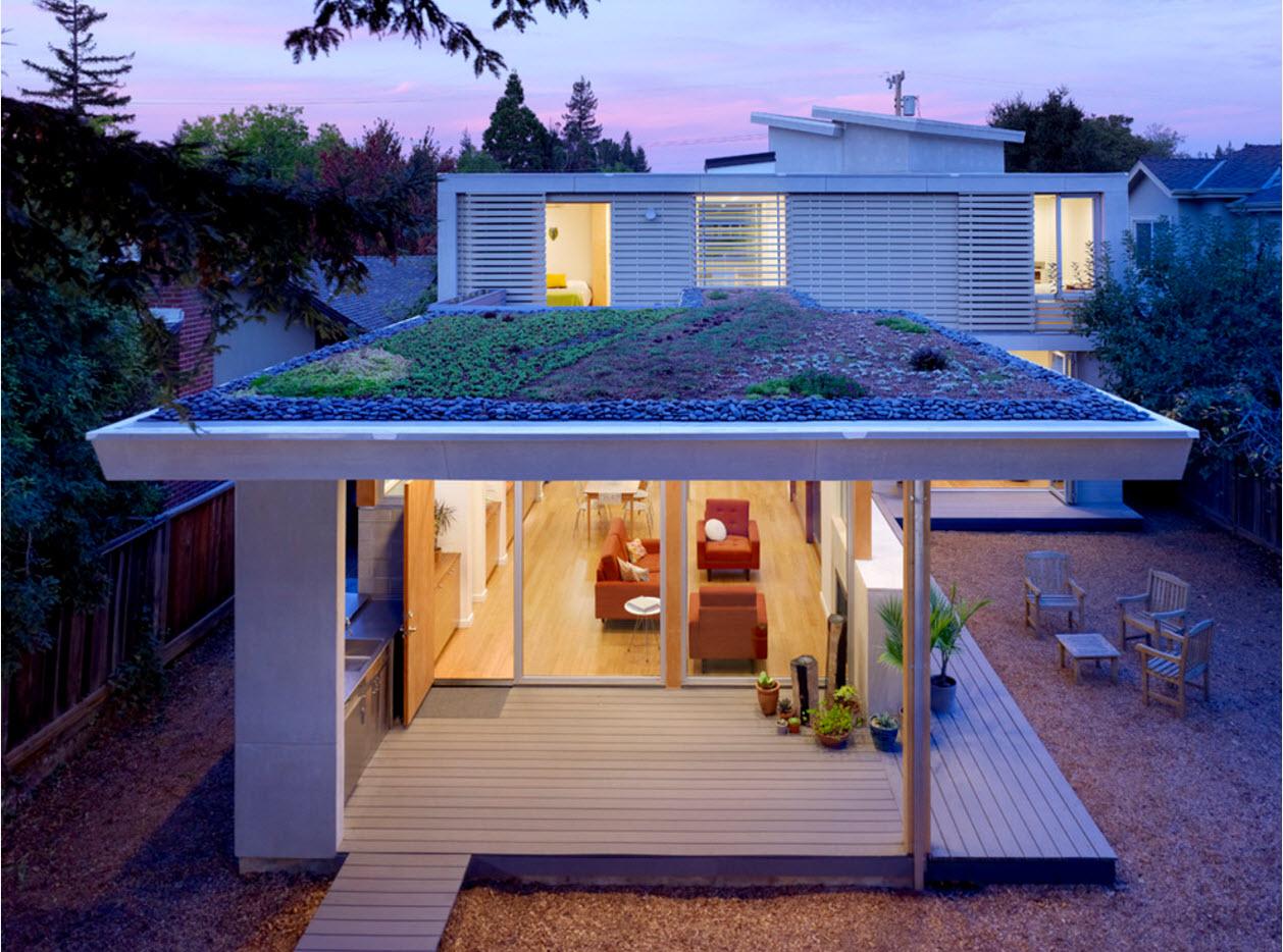 Плоская крыша для дачного домика + фото