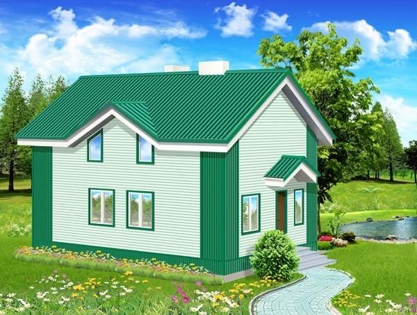 Сайдинг под зеленую крышу