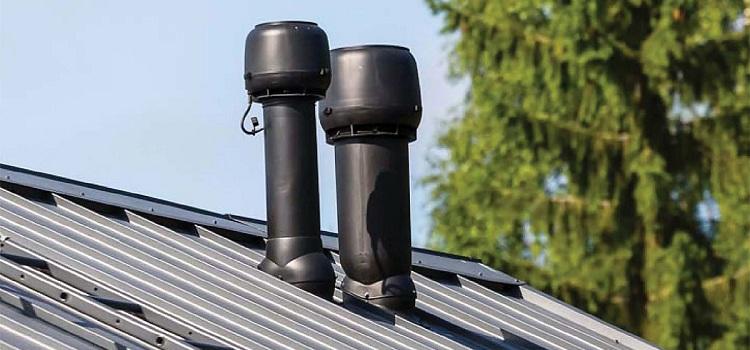 Высота вентиляционной трубы над крышей