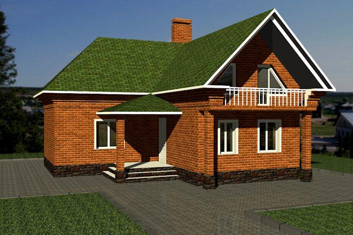 Крыша Г-образного дома